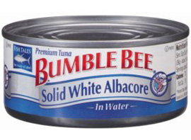 """Canned tuna, especially white, tends to be high in mercury"