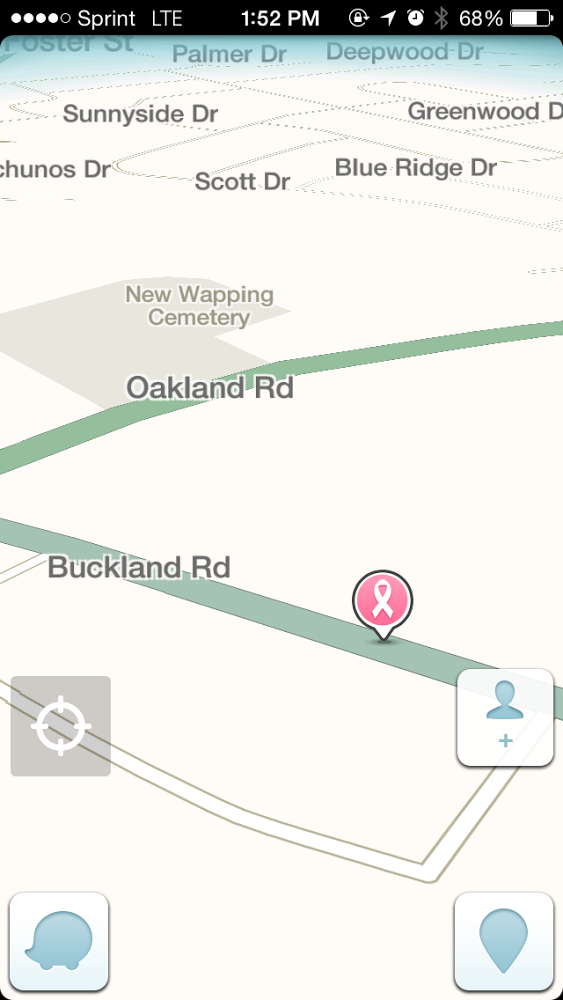 Breast Screening Location on Waze