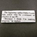 Pablo Casals quote