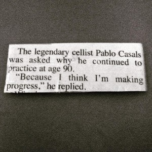 Pablo Casals quote