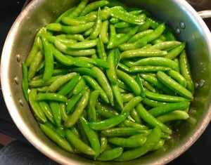 Cooked Sugar Snap Peas